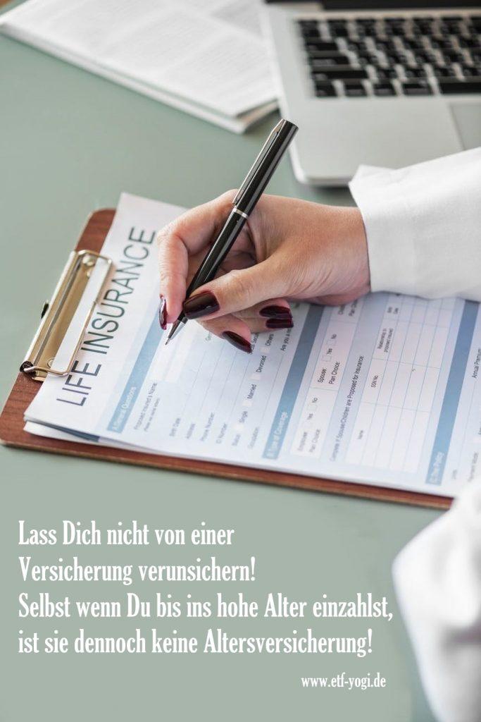 Private Altersvorsorge mit Versicherung - kann man Beratern beim Vermögensaufbau vertrauen?