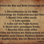 Die 10 Gebote für die Buy and Hold-Geldanlage