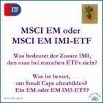 IMI-ETF & Small Caps - Nebenwerte im Portfolio?