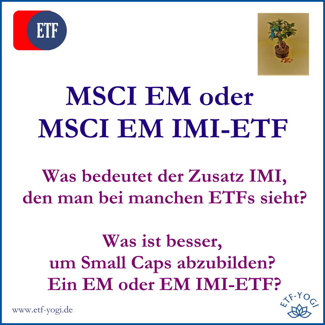 IMI-ETF & Small Caps – Nebenwerte im Portfolio?