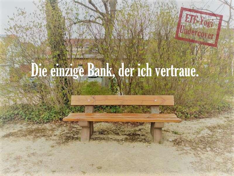 Deka-Fonds bei der Bankberatung. Hier ein Bild, der einzigen Bank, der ich vertraue.