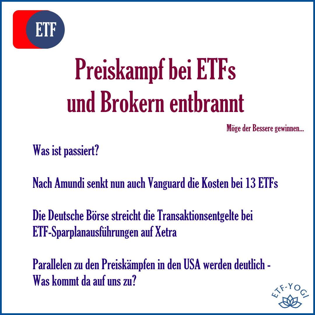 Preiskampf bei ETFs und Brokern: Vanguard und Xetra senken Kosten