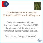 Comdirect wirft 80 Top-Preis-ETFs ab 2020 raus