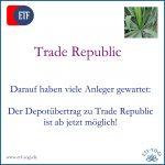 Depot zu Trade Republic übertragen? Ab jetzt möglich