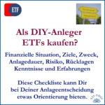 ETF Kauf - Worauf Du als DIY-Anleger achten solltest
