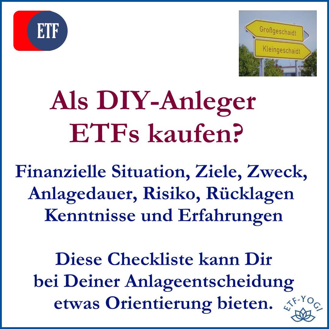 ETF Kauf – Worauf Du als DIY-Anleger achten solltest